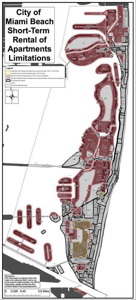 Miami Beach Short Term Rental Law Requirements And DownfallsRE - Miami beach zoning map
